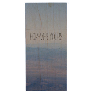 Forever Yours Wood Flash Drive