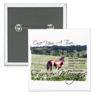 ForeverMorgans Fairytale Morgan Mare and Foal Button