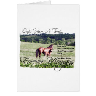 ForeverMorgans Fairytale Morgan Mare and Foal Card
