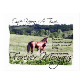 ForeverMorgans Fairytale Morgan Mare and Foal Postcard