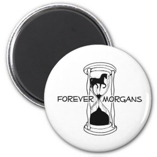 ForeverMorgans Logo Black and White 2 Inch Round Magnet