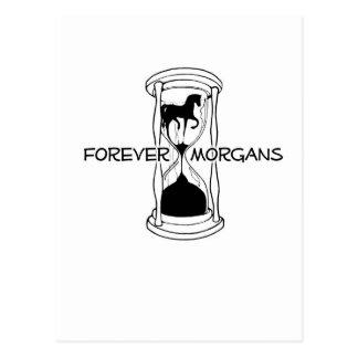 ForeverMorgans Logo Black and White Postcard