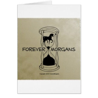 ForeverMorgans Logo Gold Background Card