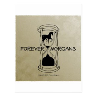 ForeverMorgans Logo Gold Background Postcard