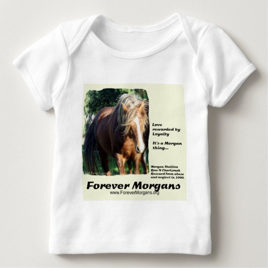 ForeverMorgans Morgan Stallion Baby T-Shirt