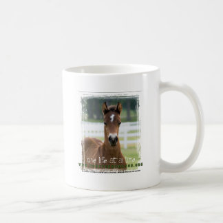 ForeverMorgans One Life at a Time Foal Classic White Coffee Mug