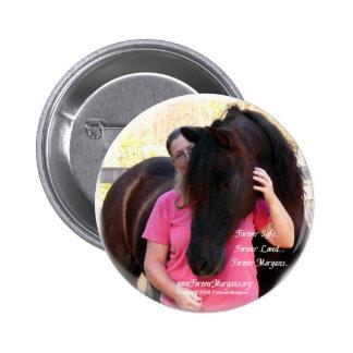ForeverMorgans Rescue Horse Jack Pinback Button