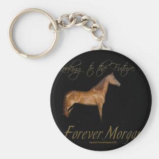 ForeverMorgans Rescue Horse Kramer Basic Round Button Keychain