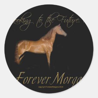 ForeverMorgans Rescue Horse Kramer Classic Round Sticker