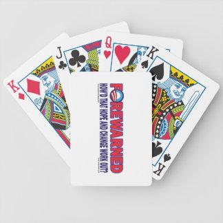 Forewarned - bicycle playing cards