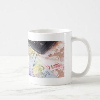 Forex - Canadian and Euro currency pair with calcu Coffee Mug