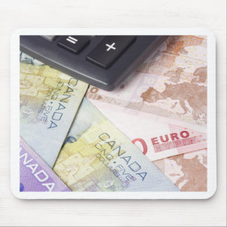 Forex - Canadian and Euro currency pair with calcu Mouse Pad