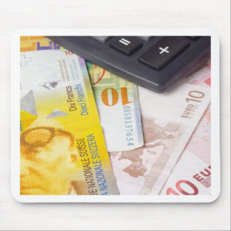 Forex - Euro and Swiss currency pair Mouse Pad