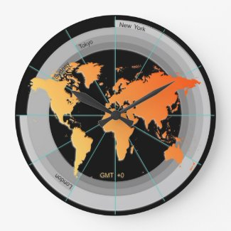 Forex Markets Timezone Clock GMT+0 hr Orange Contr
