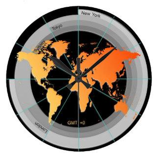 Forex Markets Timezone Clock GMT+0 hr Orange Contr