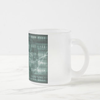 Forex Trading Online and with US Dollar Graph Frosted Glass Coffee Mug
