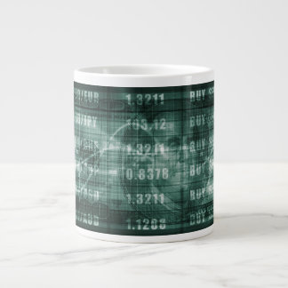 Forex Trading Online and with US Dollar Graph Giant Coffee Mug