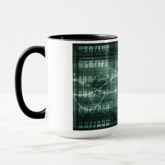 Forex Trading Online and with US Dollar Graph Mug
