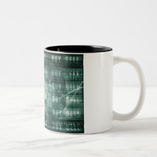Forex Trading Online and with US Dollar Graph Two-Tone Coffee Mug