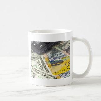 Forex - US and Australian currency pair with calcu Coffee Mug