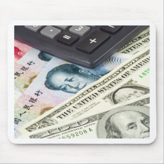 Forex - US and Chinese currency pair with calculat Mouse Pad