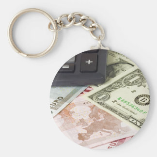 Forex - US and Euro currency pair with calculator Key Chains