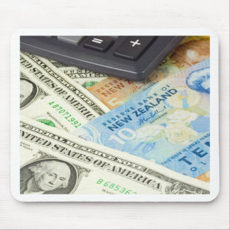 Forex - US and New Zealand currency pair Mouse Pad