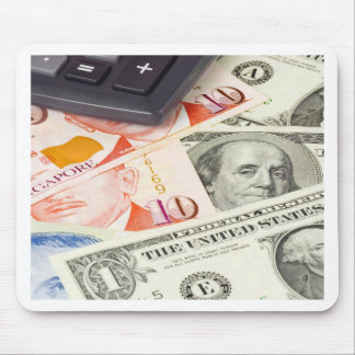 Forex - US and Singapore currency pair Mouse Pad