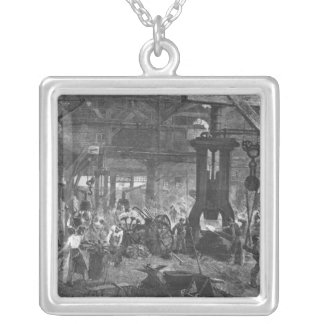 Forge of the Derosne and Cail Company, Silver Plated Necklace