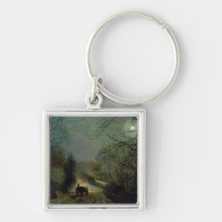 Forge Valley Silver-Colored Square Keychain