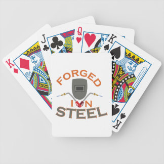 Forged In Steel Bicycle Playing Cards