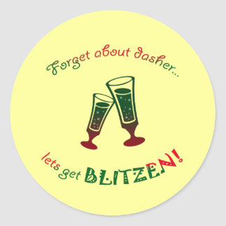 forget about dasher classic round sticker