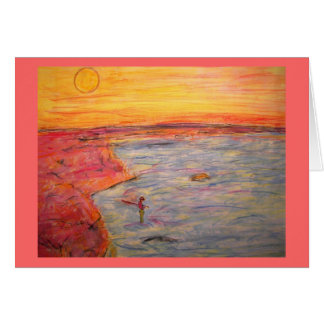 forget about it and go fishing! stationery note card