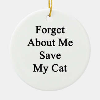 Forget About Me Save My Cat Double-Sided Ceramic Round Christmas Ornament