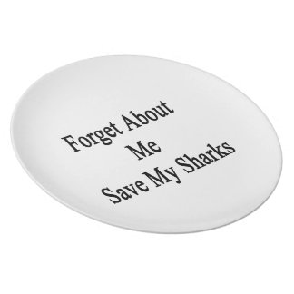 Forget About Me Save My Sharks Plates