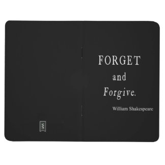 Forget and Forgive Personalized Shakespeare Quote Journal