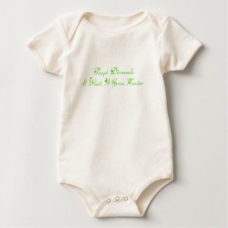 Forget Diamonds I Want A Green Tractor Baby Bodysuit