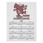 forget dieting funny diet humor elephant poster