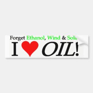 Forget Ethanol Wind Solar Bumper Stickers