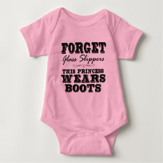 Forget Glass Slippers, This Princess Wears Boots Baby Bodysuit