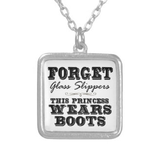 Forget Glass Slippers, This Princess Wears Boots Necklace