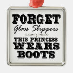 Forget Glass Slippers, This Princess Wears Boots Christmas Tree Ornament