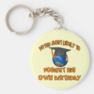 Forget His Birthday Keychain