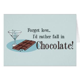 Forget Love Anti-Valentine card