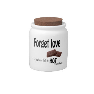 Forget love candy jar