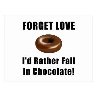 Forget Love Chocolate Postcard