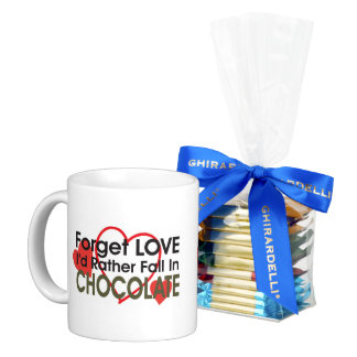 Forget Love Mug with Ghirardelli chocolates
