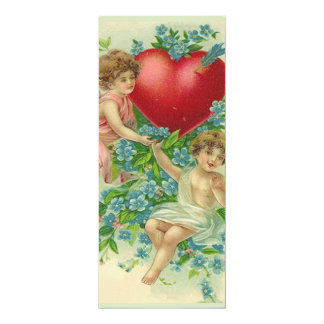 Forget me knot Valentine Menu 4x9.25 Paper Invitation Card