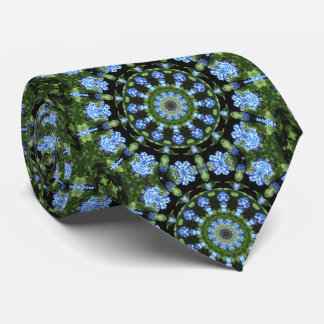 Forget Me Not 001 01, Forgetmenot, Nature Mandala Neck Tie