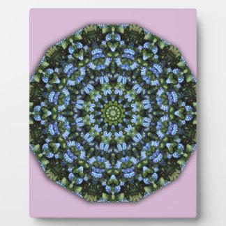 Forget Me Not 001 01, Forgetmenot, Nature Mandala Plaque